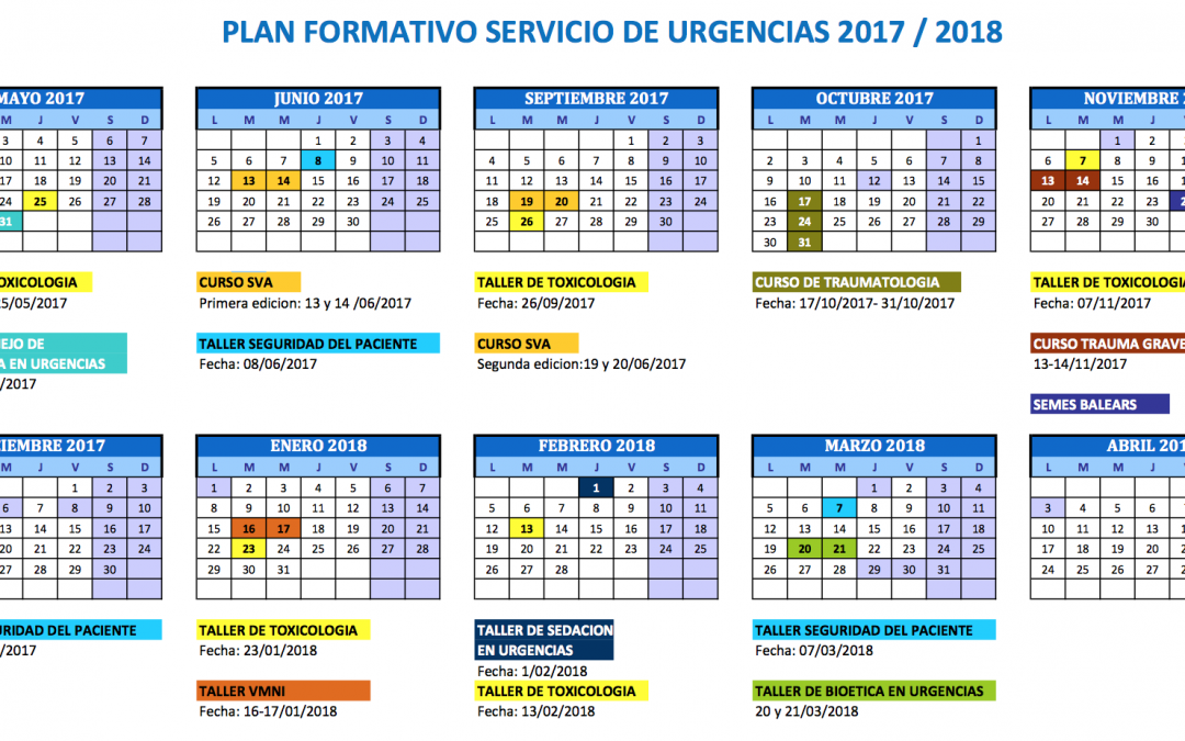 Inscripción Plan Formativo Urgencias 2017-18